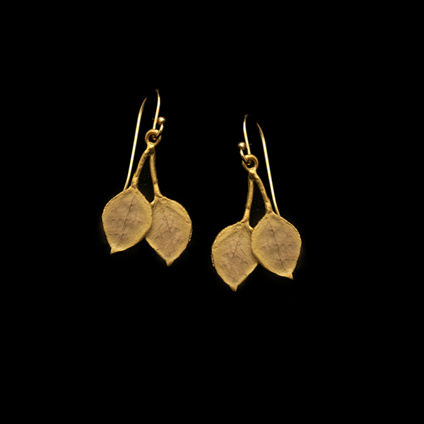 Round Leaf Eucalyptus Wire Earring