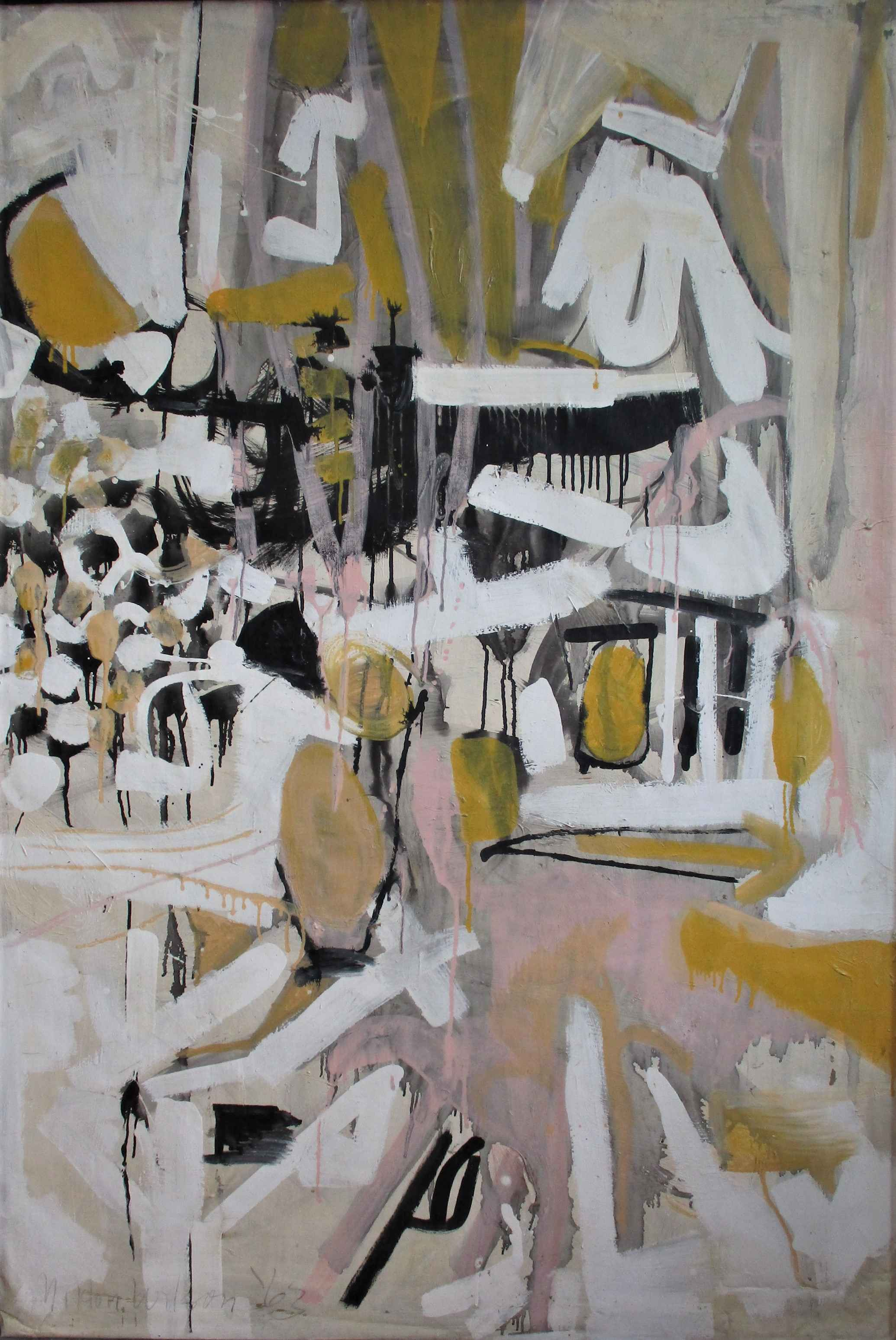 Untitled (yellow/pink) by  Milton Wilson - Masterpiece Online