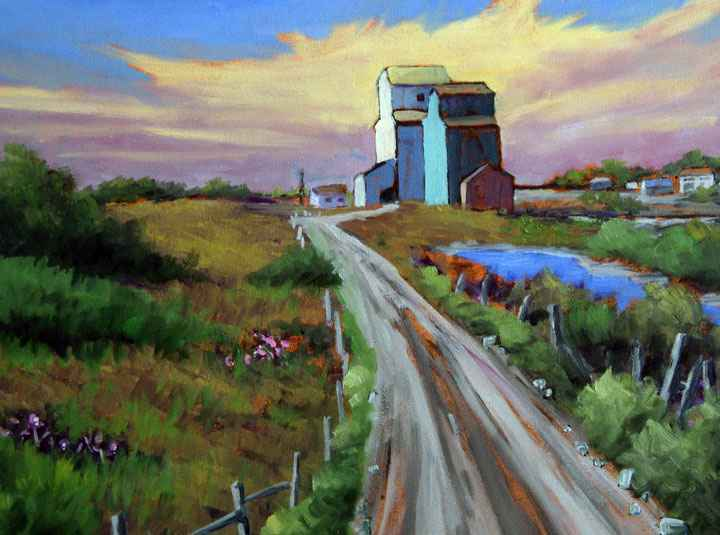 Old Elevator Road by  Fraser Hine - Masterpiece Online