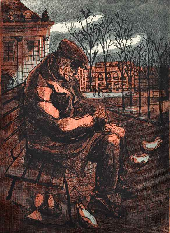 Man on Park Bench by  Bernard Brussel-Smith (1914-1989) - Masterpiece Online