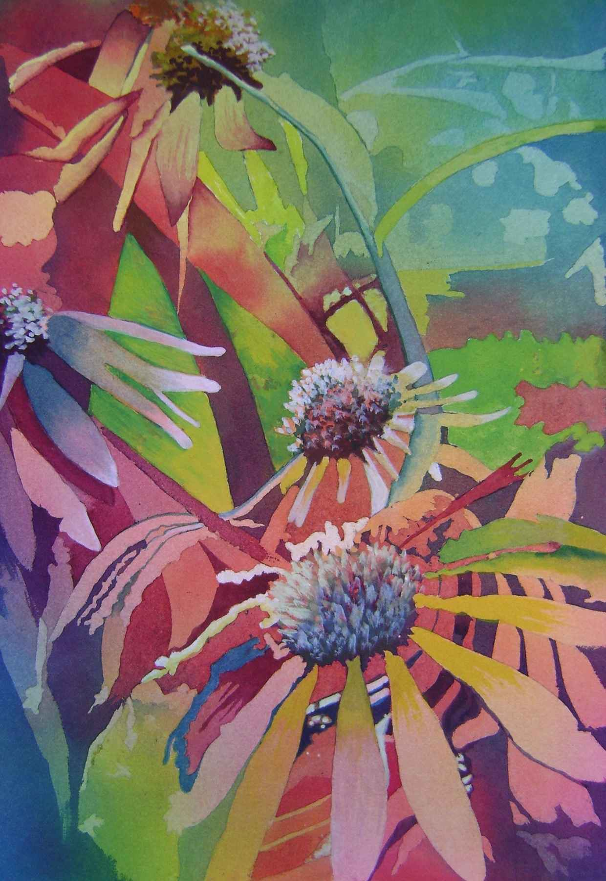 Cone Flowers by  Mary Bubla - Masterpiece Online