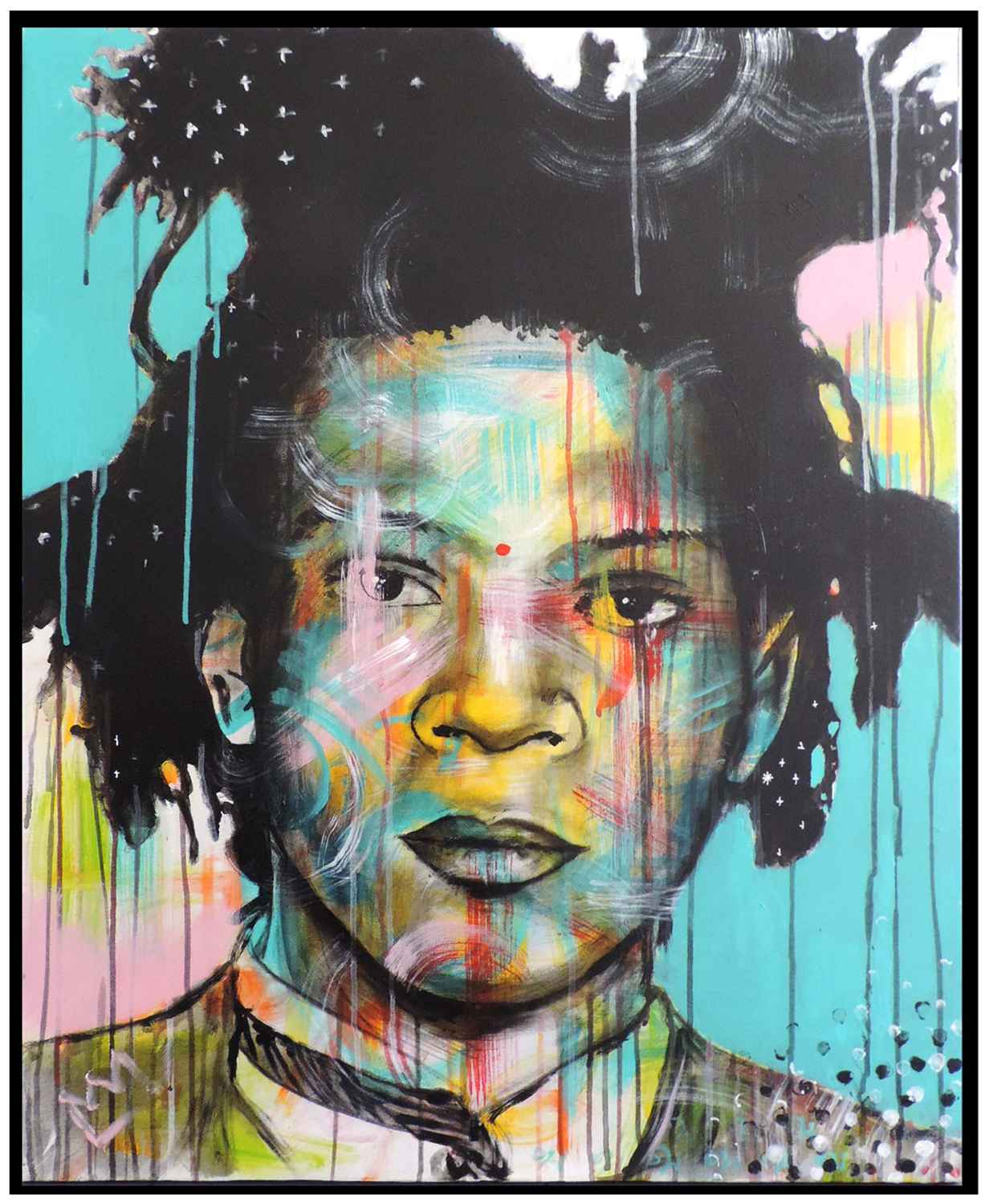 Colour on Basquiat by   MÖ - Masterpiece Online