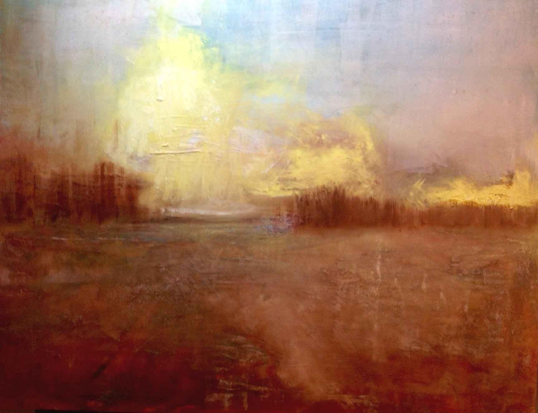 Z Field With Yellow C... by  Carol Finkbeiner Thomas - Masterpiece Online