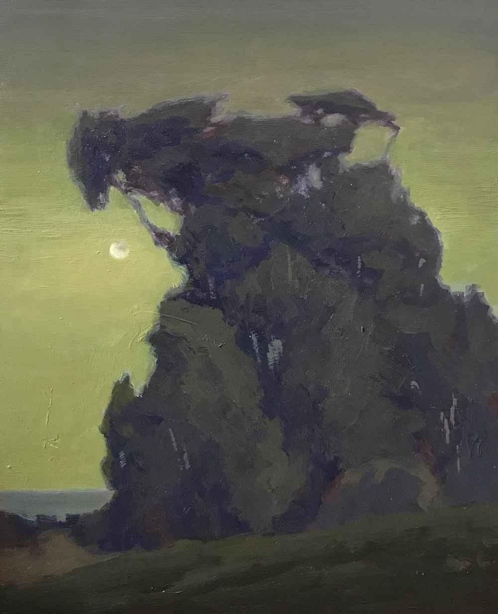 Treeline Moonrise  by  Brian Sindler