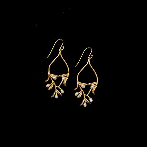 Night Willow Wire Earrings