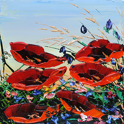 Floral Poppies 177646 by  Maya Eventov - Masterpiece Online