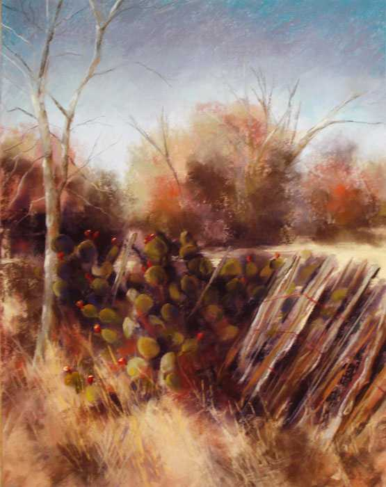 Cactus Fence by Mrs Dina Gregory - Masterpiece Online