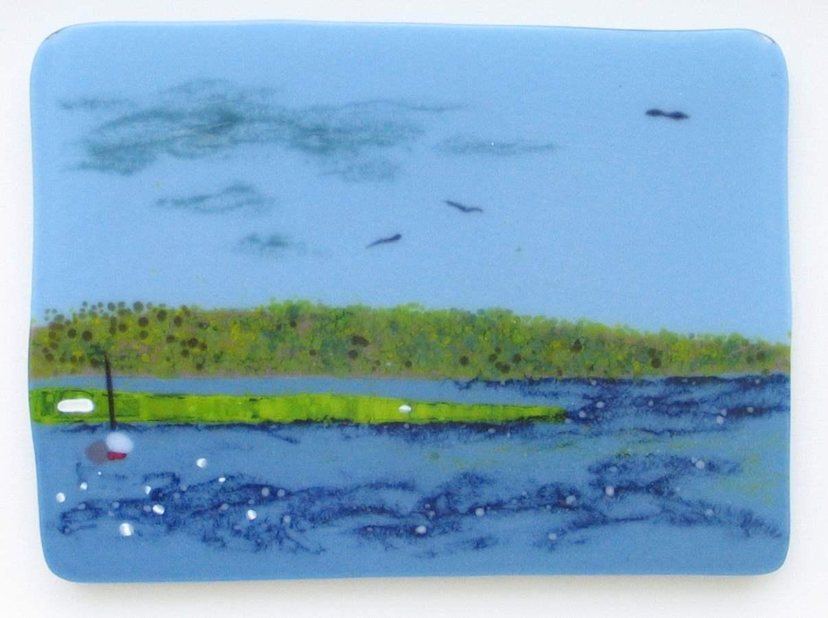 View up Menemsha Pond by  David Geiger - Masterpiece Online