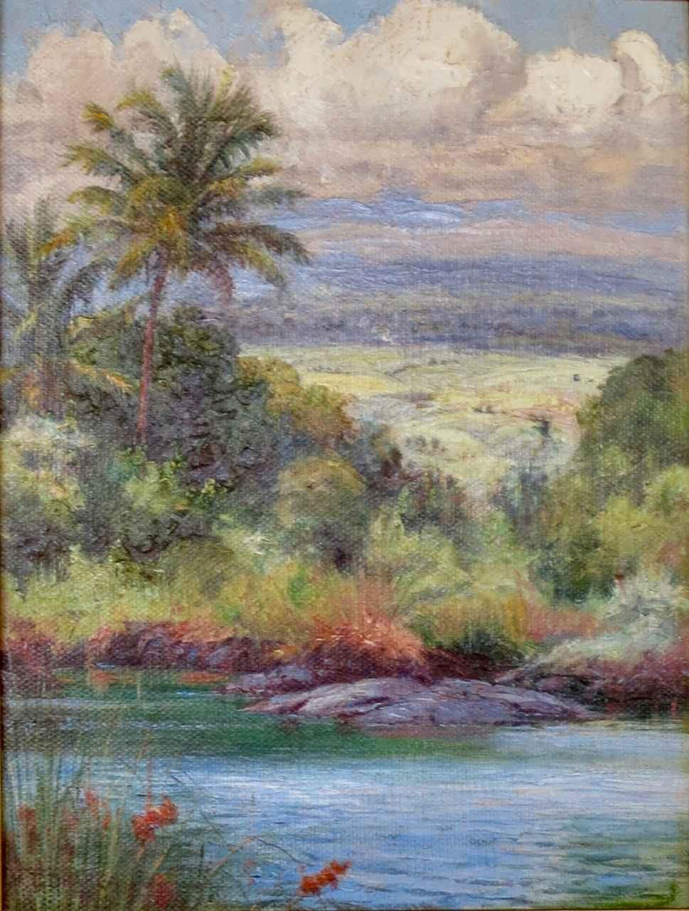 Mauna Kea in the Clou... by  Helen Thomas Dranga (1866-1928) - Masterpiece Online