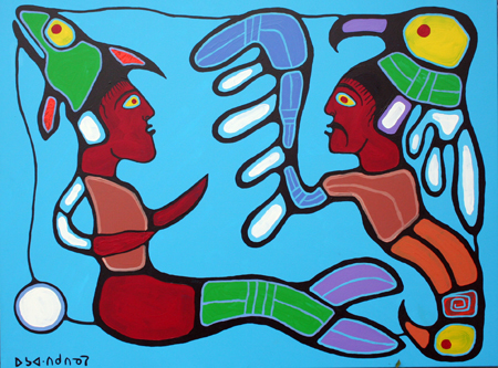Astral Beings by  Norval Morrisseau - Masterpiece Online