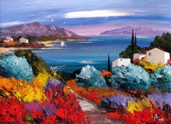 Summer Coast by  Louis  Magre - Masterpiece Online