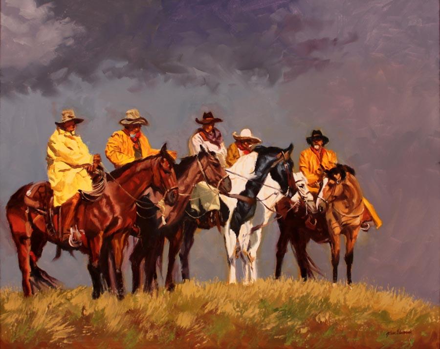 SOLD- Five Rangers  by  Glen Edwards