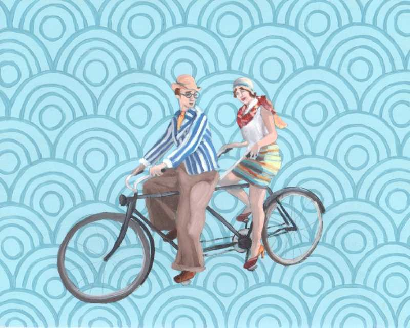 Bicyle Built for Two by  Kim Ferreira - Masterpiece Online
