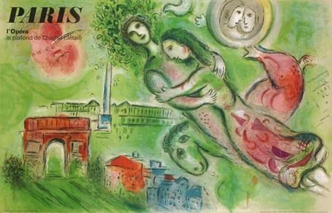 Paris - L'Opera - Le ... by  Marc Chagall - Masterpiece Online