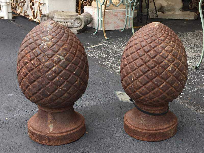 Pair of Iron Acorn Fi... by  None None - Masterpiece Online