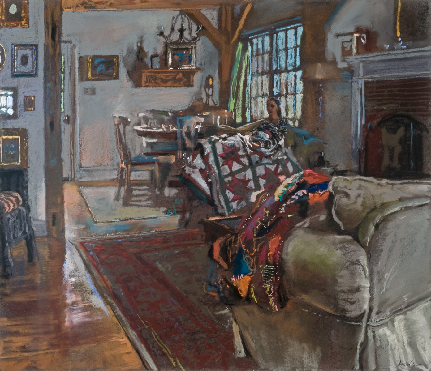 Melissa with Quilts by  Daud Akhriev - Masterpiece Online
