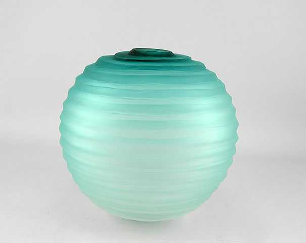 Teal Sphere Vase by  Brad Copping - Masterpiece Online