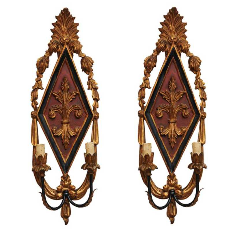 Pair of Carved Two-li... by  Italian  - Masterpiece Online