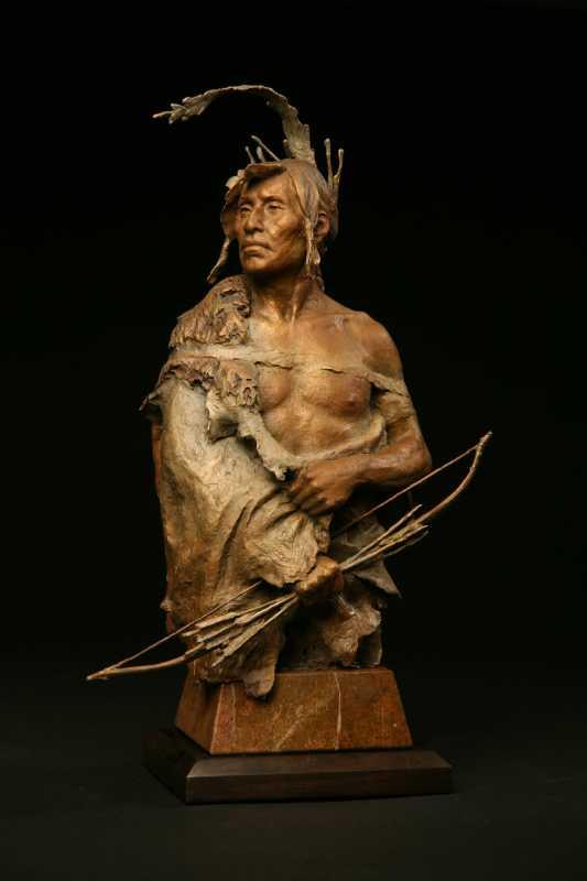 Mandan Warrior by  John Coleman - Masterpiece Online