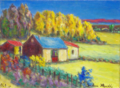 Old Farm Houses by  Andres  Morillo - Masterpiece Online