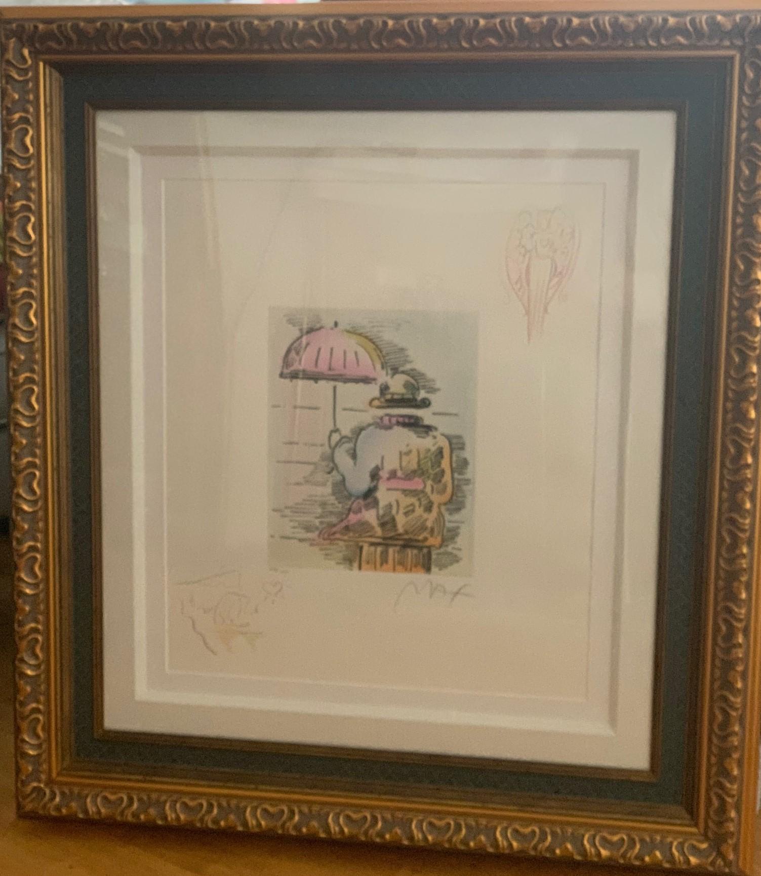 Umbrella Man II by  Peter Max - Masterpiece Online