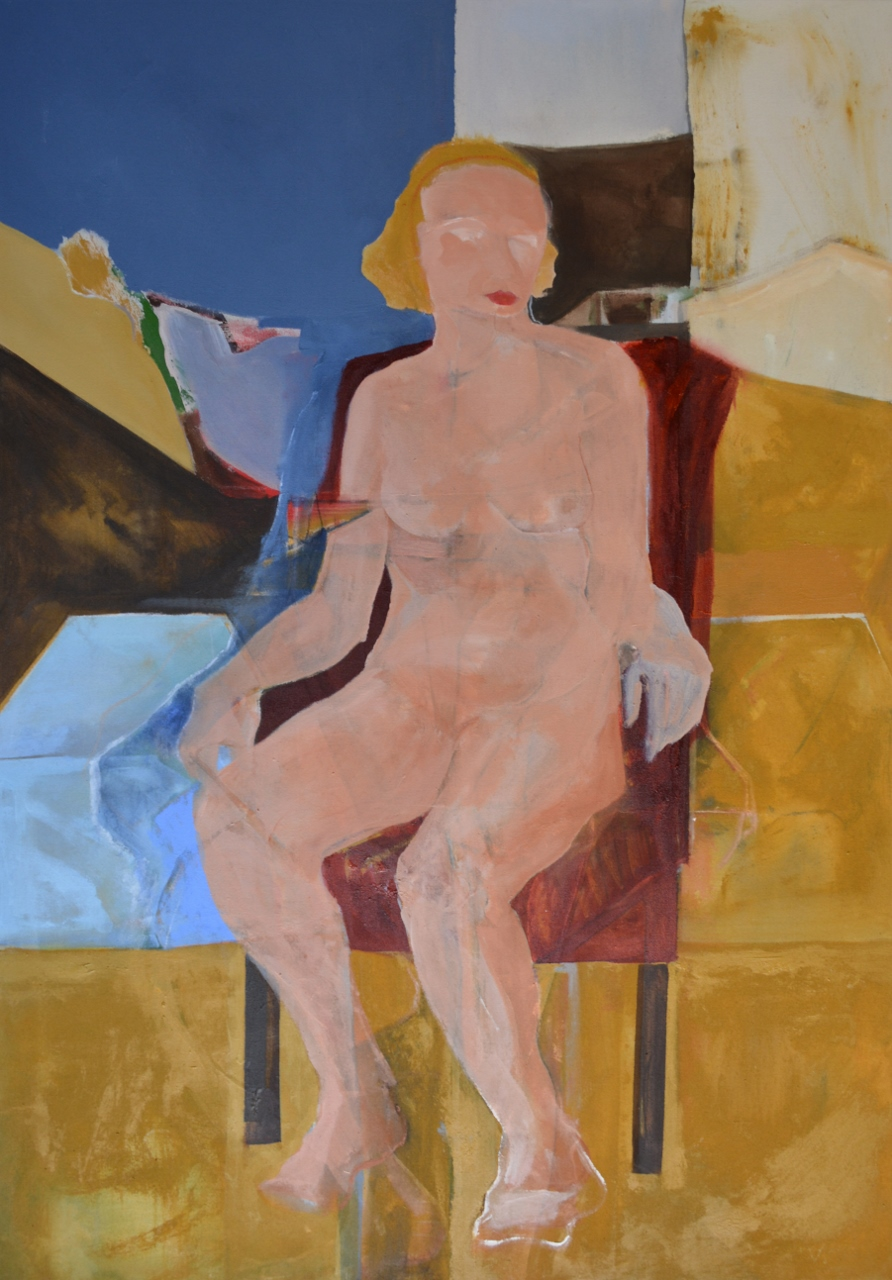 WOMAN IN RED CHAIR by Mr. DAVID BACA - Masterpiece Online