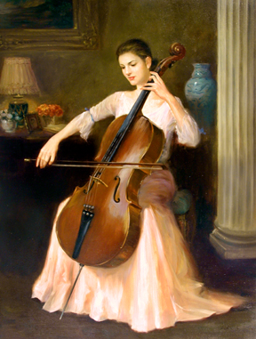 The Cellist by  Kelvin  Lei - Masterpiece Online