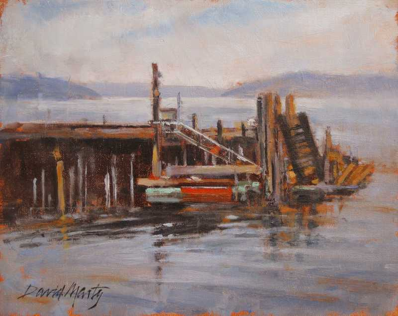Whidbey Island Wharf  by  David Marty