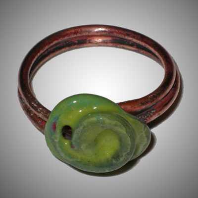 TA6228a Green Enamel ... by  Terrie Allen - Masterpiece Online