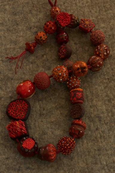 RED FLORA NECKLACE by  Dan Adams Cynthia Toops - Masterpiece Online