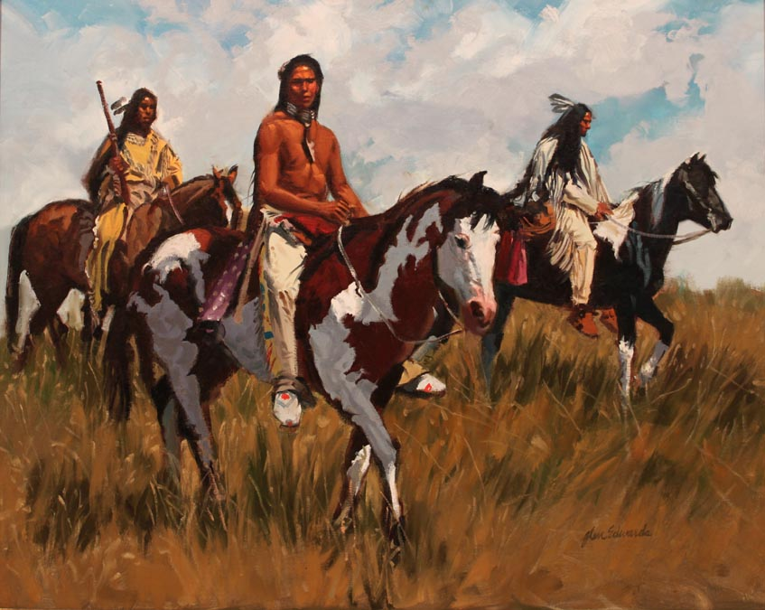 SOLD- Scouting by  Glen Edwards - Masterpiece Online