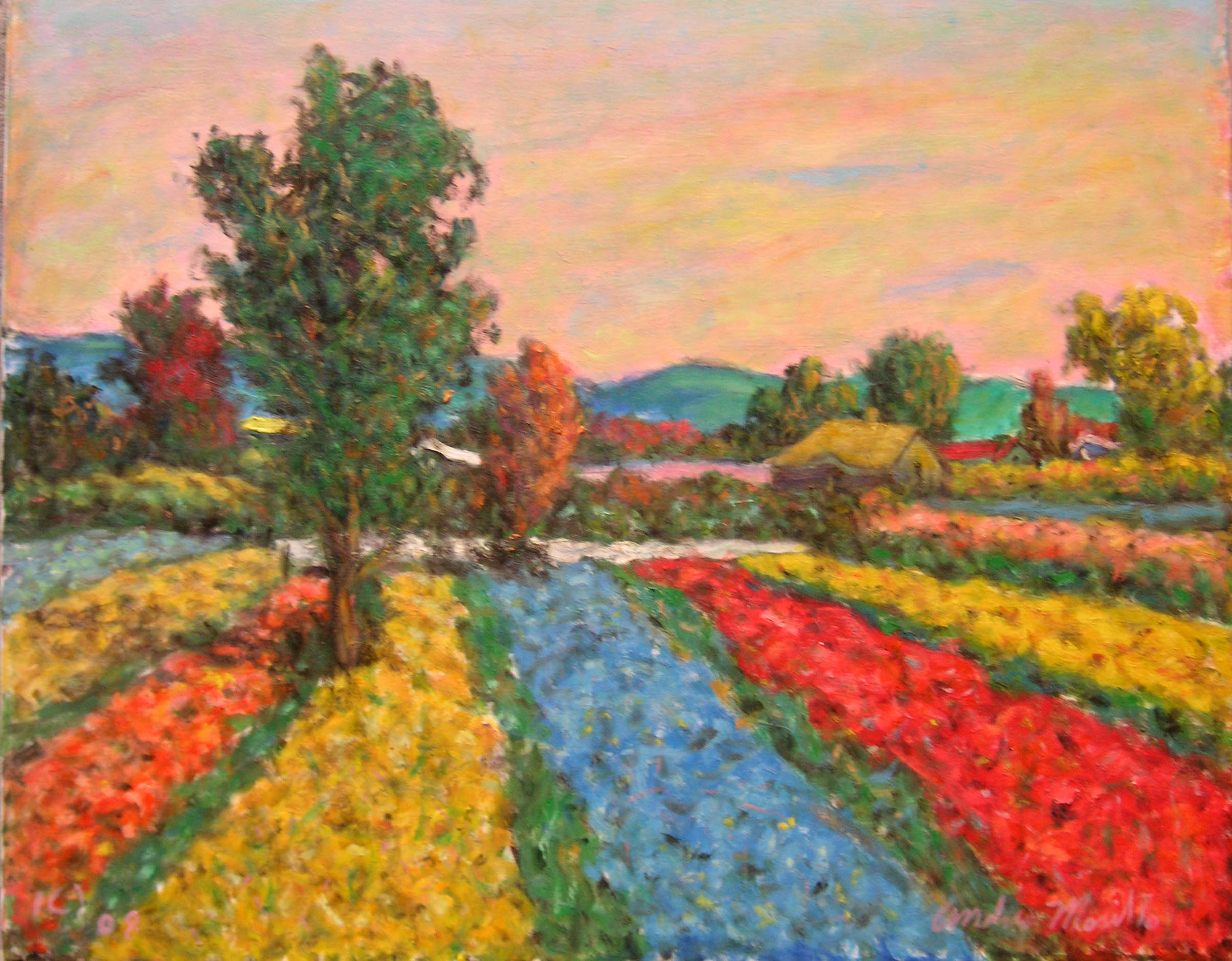 Flower Farms In Spring by  Andres  Morillo - Masterpiece Online