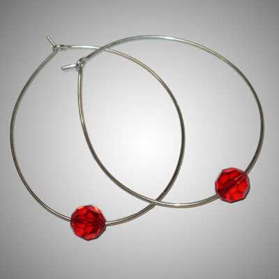 TA6765A Crystal Hoops by  Terrie Allen - Masterpiece Online
