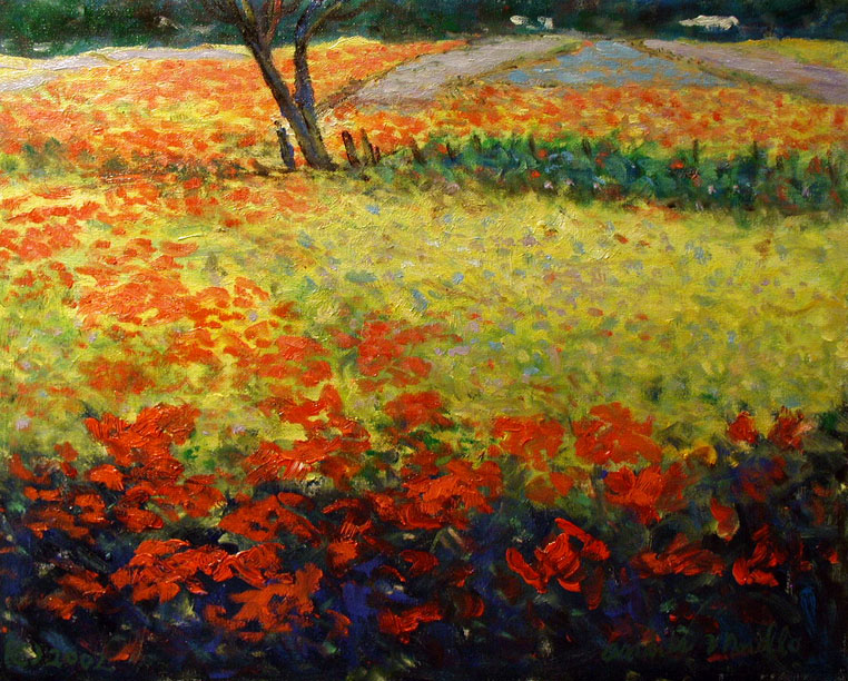 Poppies in the Field by  Andres  Morillo - Masterpiece Online