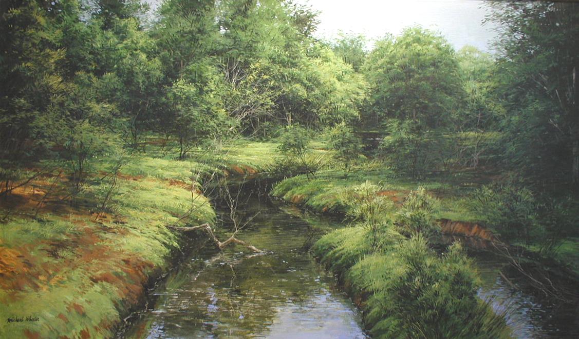 Creek With Island by  Michael Wheeler - Masterpiece Online