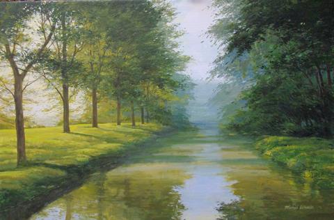 Fog on Creek - 8AM by  Michael Wheeler - Masterpiece Online