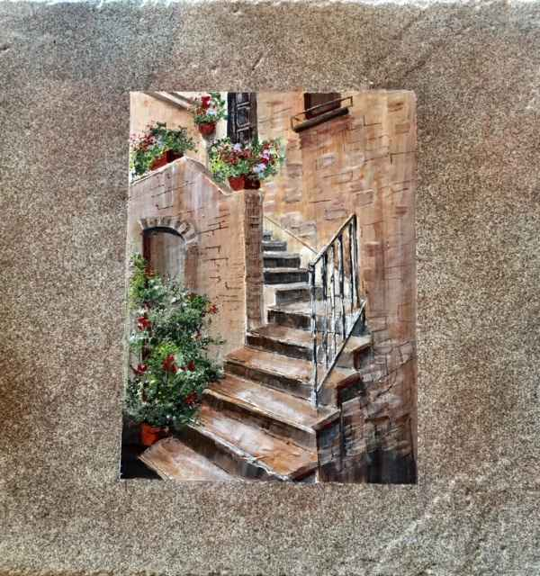 Tuscan Stairs by  Janet Liesemer - Masterpiece Online