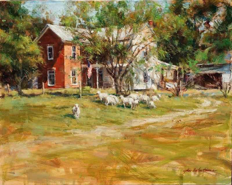 Sheep in Fredericksbu... by  John Austin Hanna - Masterpiece Online
