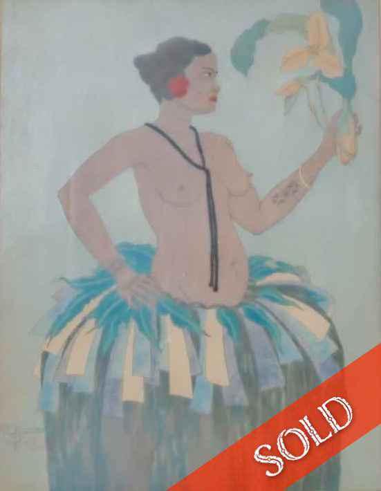 Belle de Yap et Orchi... by  Paul Jacoulet - Masterpiece Online