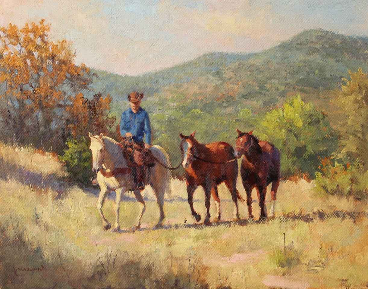 Hill Country Horseman by  Chuck Mauldin - Masterpiece Online