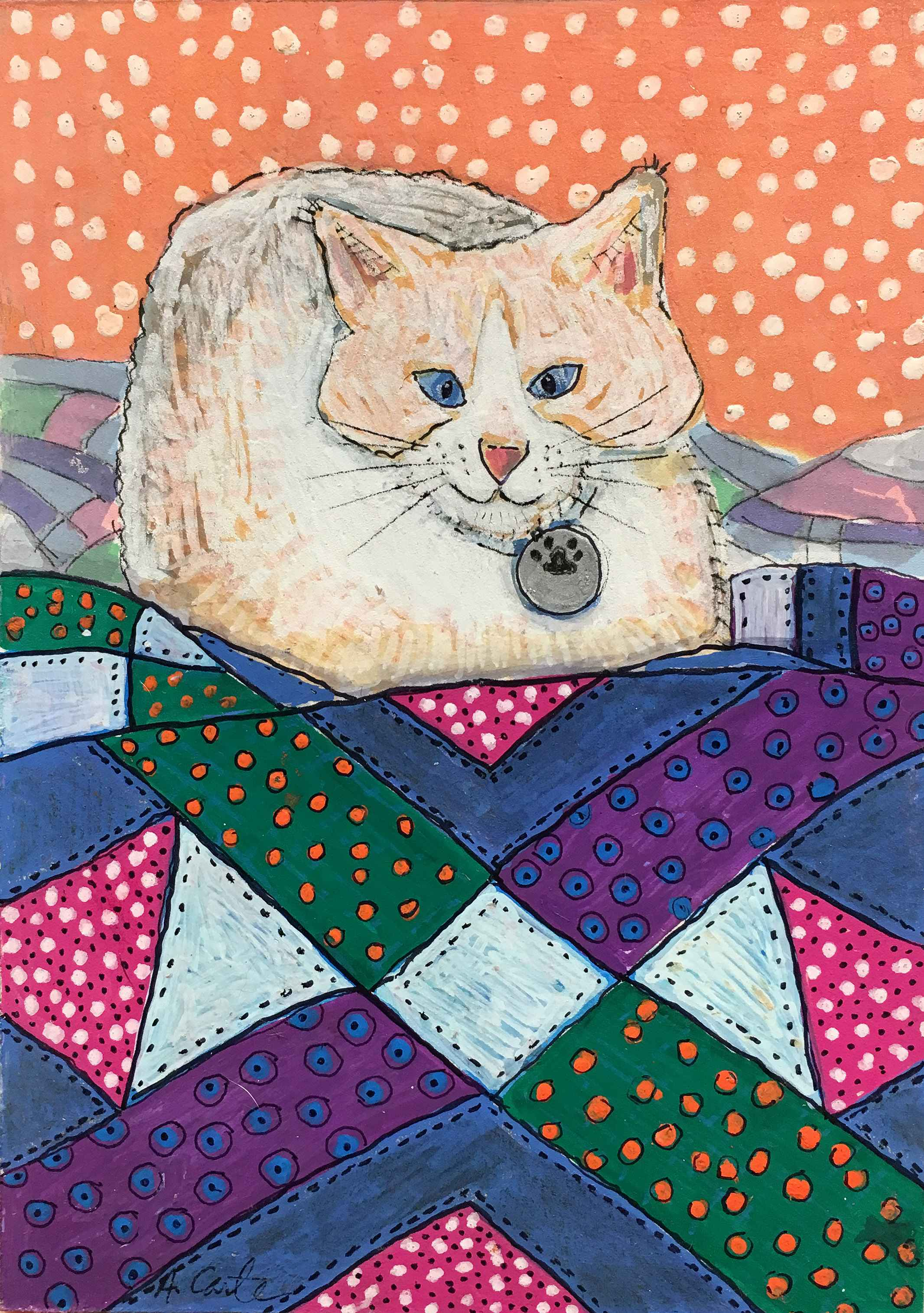 Patches Adores Purple by  Ann L. Carter - Masterpiece Online