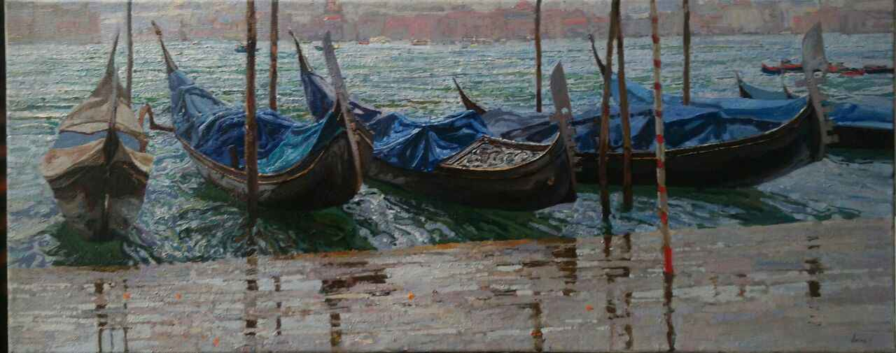 Gondolas (Russia) by  Daud Akhriev - Masterpiece Online