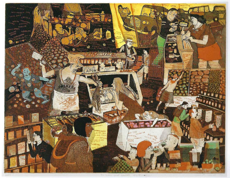 To Your Good Health, ... by  Warrington Colescott - Masterpiece Online