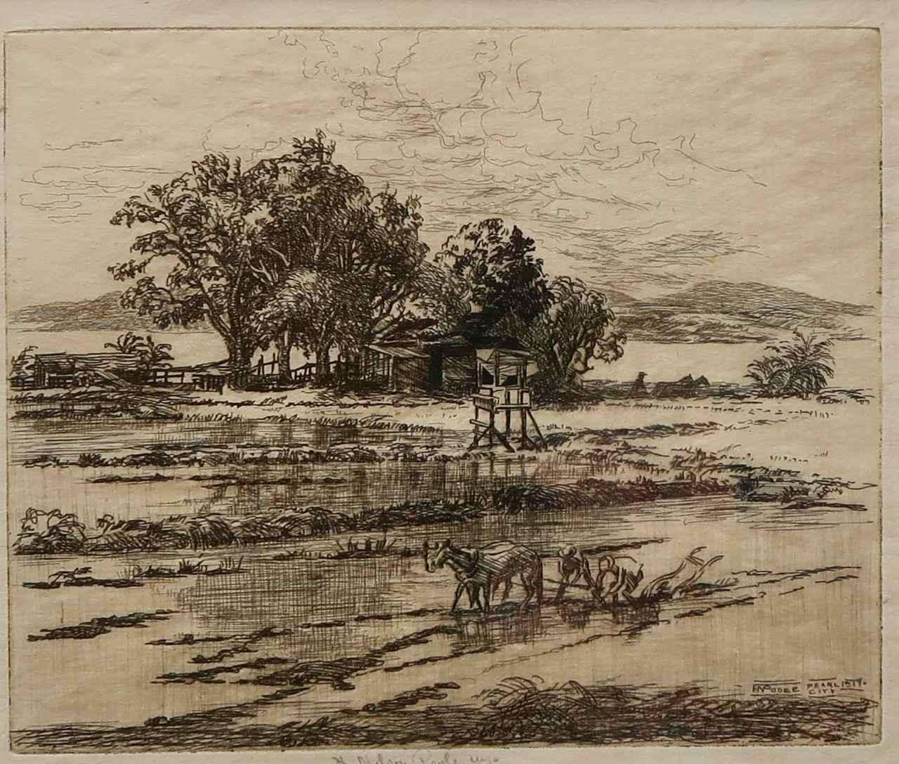 Hawaiian Rice Field by  Horatio Nelson Poole (1884-1949) - Masterpiece Online