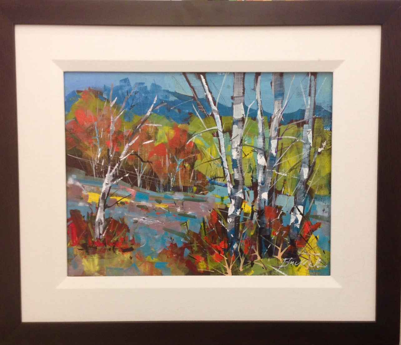 Autumn Runs Abstract by  Brian Buckrell - Masterpiece Online