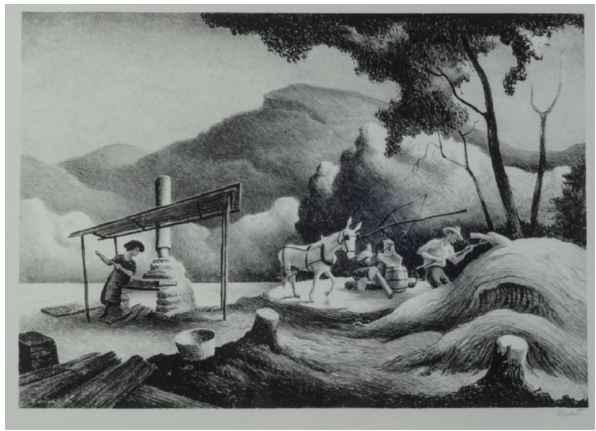 Sorgum Mill by  Thomas Hart Benton - Masterpiece Online