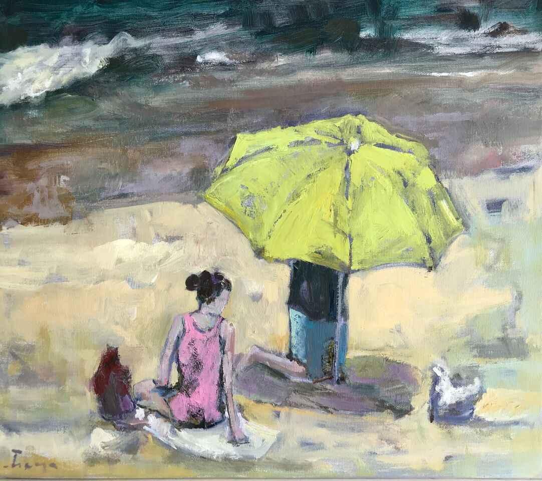 Setting the Umbrella by  Traeger di Pietro - Masterpiece Online