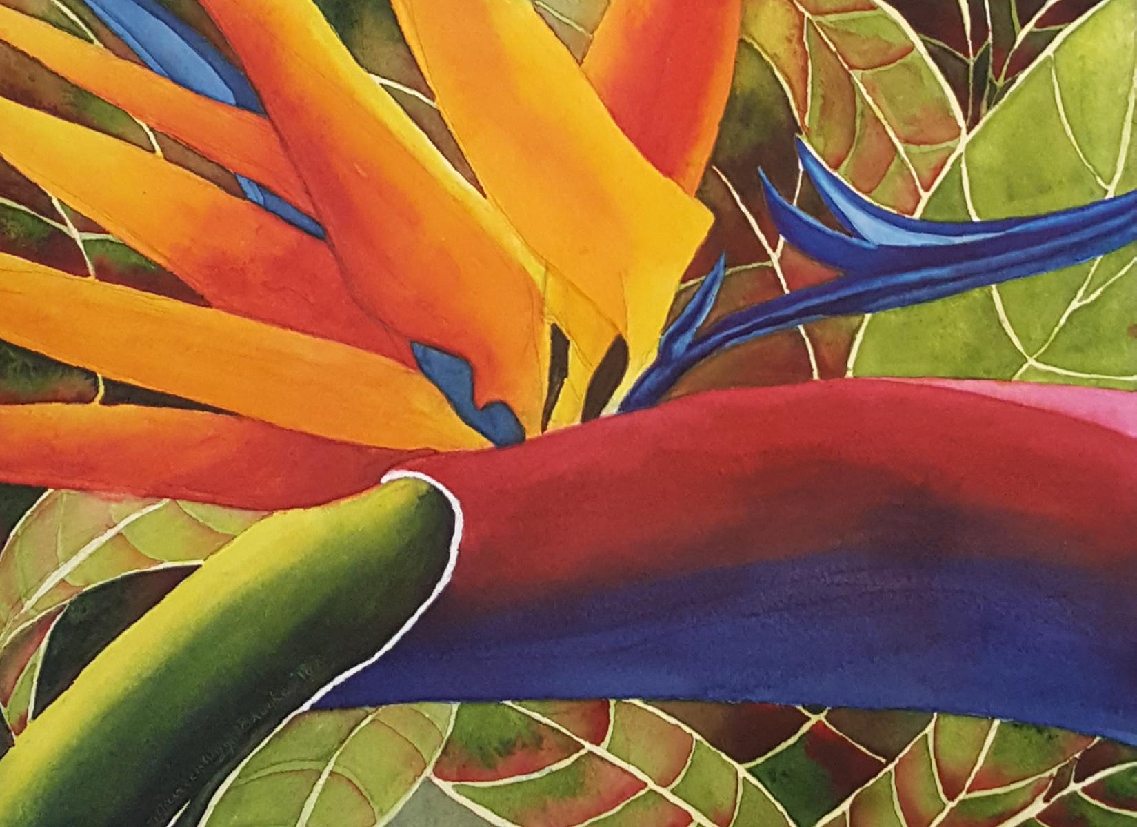 Tropical Bird of Para... by  Maureen Henson-Brunke - Masterpiece Online