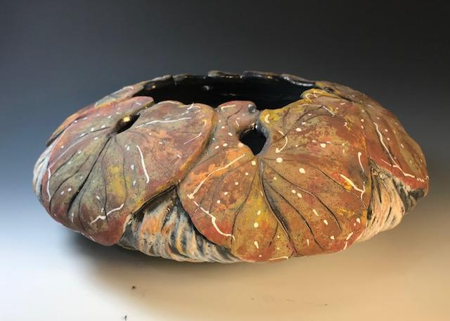 Brown Leaf Rim Bowl