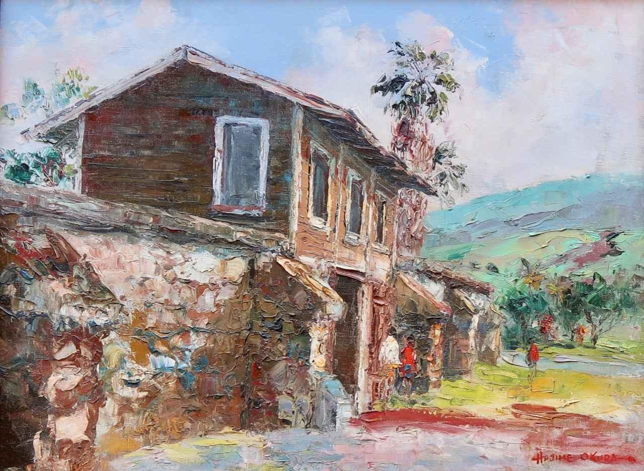 Old Prison at Lahaina by  Hajime Okuda (1906-1992) - Masterpiece Online